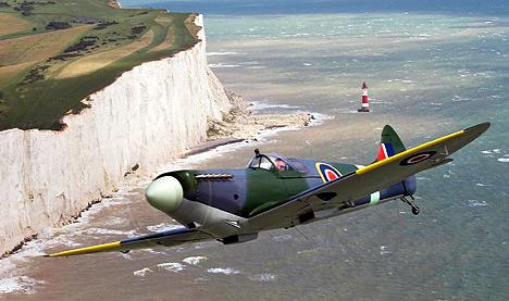 O Supermarine Spitfire foi o avião de caça britânico mais famoso da Segunda Guerra Mundial